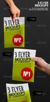 3 Flyer Mockups by Kamarashev