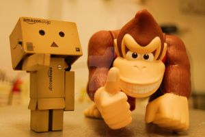 Danbo and Donkey Kong by Yuffie1972