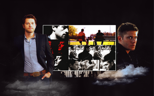 Dean and Castiel Wallpaper by poturiye