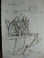 Spyro and Cynder by metalfoxxx