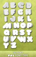 VAL Font Type 3D Text by thraxolq