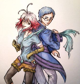 [ART TRADE] Pascal and Hubert (Tales of Graces) by Bcpupu