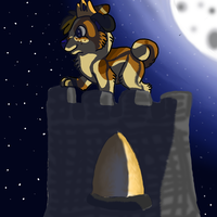 Queen Blue on her tower of Magicalness by KadoAngel13