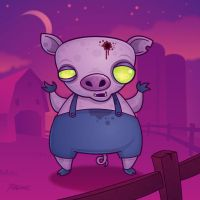 Zombie Piggy by fizzgig