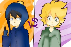 Craig VS Tweek by steffanny