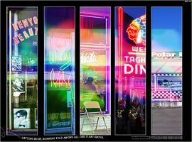Collage neon by Sakashy-lin