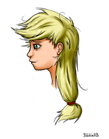 Face Practice: Applejack by JunkieKB
