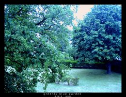 S12-20 Greenly blue garden by iksela