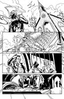 Grim Leaper #1 - Page 1 BW by zsabreuser
