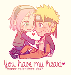 You Have My Heart - NaruSaku Valentines by NightLiight