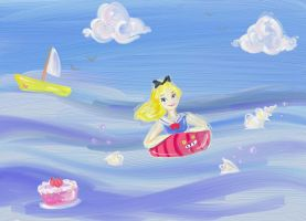 Tea party in the sea by flewyesterday