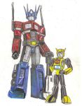 Unfinished Retro Transformers by SketchSchmidt-Art