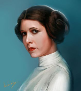 Rest in peace - Carrie Fisher portrait by JulienLasbleiz
