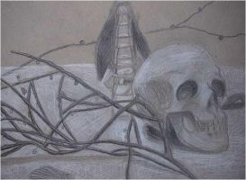 Skull and Branches by baos3113
