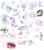 Art Therapy Sketch Dump by Simkaye