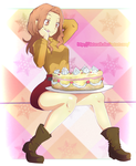 Mimi eating a cake by Detoreik