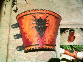 Dragon Leather Bracer by Dragon8or