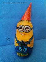 Despicable Me - Birthday minion nesting doll by AnastasiyaKosenko
