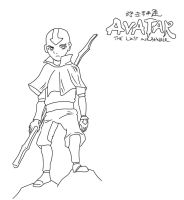 Aang Lineart by Deathirst