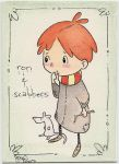 Ron and Scabbers by mymlansdotter