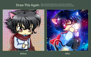 Draw this Again Challenge - chibi Setsuna by Nekoi-Echizen