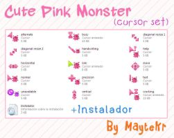 Cute Pink Monster cursor set by MayteKr by MayteKr
