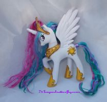 Custom White Princess Celestia FiM My Little Pony by mayanbutterfly