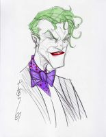 Joker head sketch by Hodges-Art