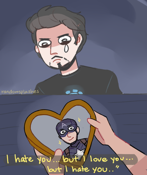 A Summary of Steve and Tony in Civil War by Randomsplashes