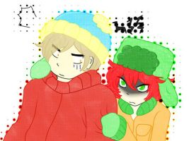 :Cartman+Kyle: by Mac-kys