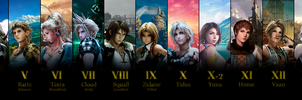 All Main Final Fantasy Games (I to XV) by AndrewScrolls