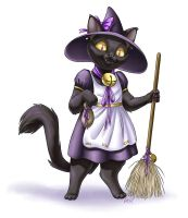 Witch Cat by kittendrumstick
