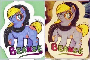 Beanie - Custom Pony Badge Commission by Sparkle-And-Sunshine