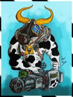 Killer Cow by carnivore-art
