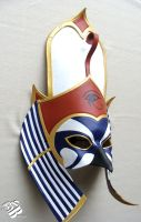 Custom Egyptian Horus Leather Mask by senorwong