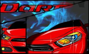 Dodge Dart Art . by MightyMagic
