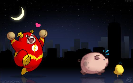 FAT Heroes:  Fat Flash by zillabean