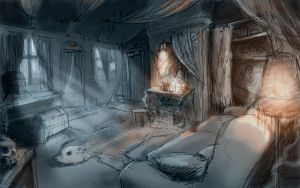 Witch house sketch by Nemo-Li