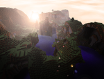 Dawn in Minecraft by Xeehsl