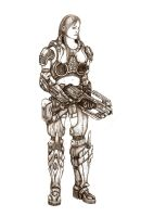 Veronica,COG Soldier by GraphiteKnight