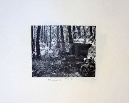 Abandoned Truck by MAGPrintmaker