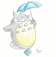 Totoro on a Top by Wingza