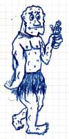 Scribble - Stone Dude With Broken Arm by vonRibbeck