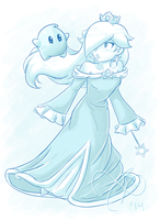 rosalina and luma by Rainmaker113