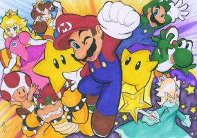 MARIO IN YOUR FACE by WhiteFox89