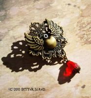 Steampunk Sacred Heart Clip by LaOubliette