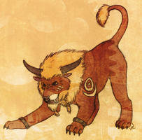New Tauren Cat - Colored by heartmade