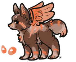 Adoptable Winged Wolf by little-ashen-finch