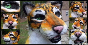 Tiger Fursuit Head by Lunafex