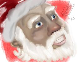 Father Christmas doodling by brobeck